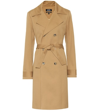 A.P.C. - Alexis cotton trench coat - mytheresa.com