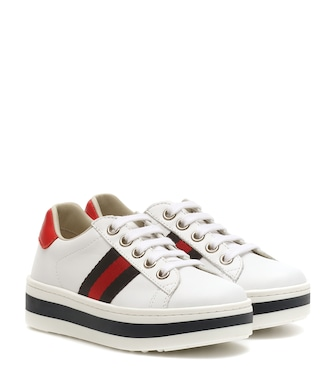 Gucci Kids - Ace leather platform sneakers - mytheresa.com
