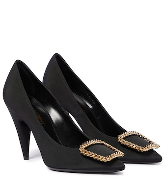 Saint Laurent - St Sulpice 95 grosgrain pumps - mytheresa.com