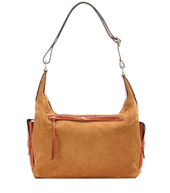 Isabel Marant - Corte Day suede and leather shoulder bag - mytheresa.com