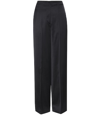 Edun - Wide-legged sateen trousers - mytheresa.com