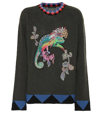 Etro - Embroidered wool sweater - mytheresa.com