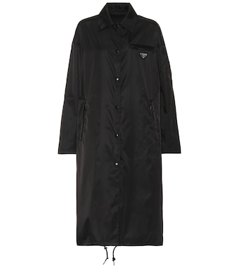 Prada - Long nylon gabardine coat - mytheresa.com