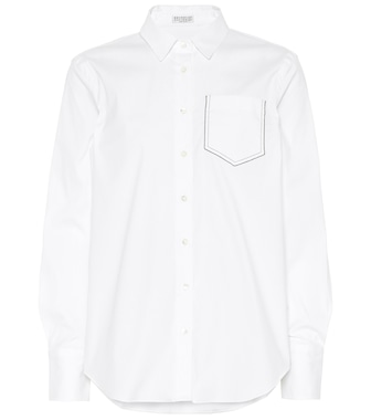 Brunello Cucinelli - Stretch cotton-blend shirt - mytheresa.com