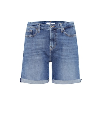 7 For All Mankind - Shorts Boy de jeans de tiro alto - mytheresa.com