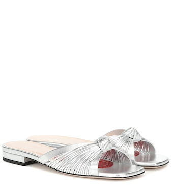 Gucci - Crawford leather slide sandals - mytheresa.com