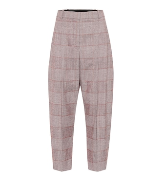 Stella McCartney - Check wool-blend pants - mytheresa.com