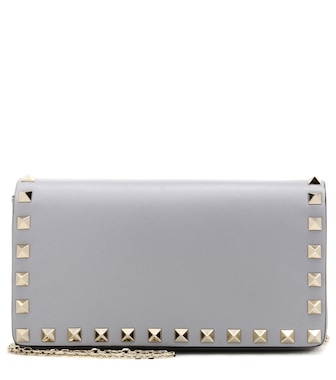 Valentino - Valentino Garavani Rockstud leather shoulder bag - mytheresa.com