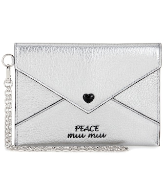 Miu Miu - Embellished leather wallet - mytheresa.com