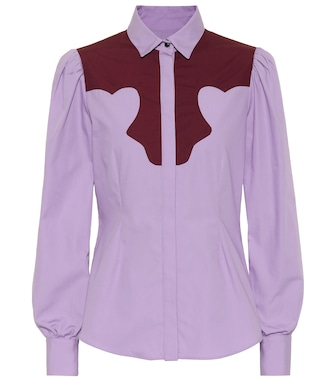 AlexaChung - Cotton blouse - mytheresa.com