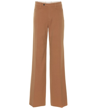 Chloé - High-rise wool-blend pants - mytheresa.com