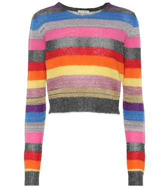 Miu Miu - Striped wool-blend sweater - mytheresa.com