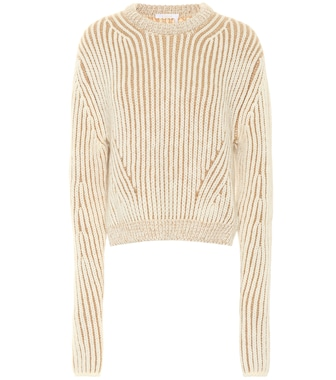 Chloé - Ribbed wool-blend sweater - mytheresa.com