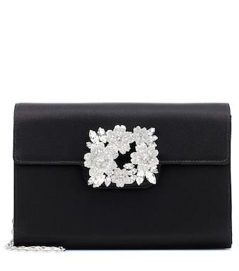 Roger Vivier - RV Bouquet embellished satin clutch - mytheresa.com