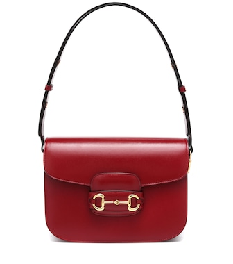 Gucci - 1955 Horsebit leather shoulder bag - mytheresa.com