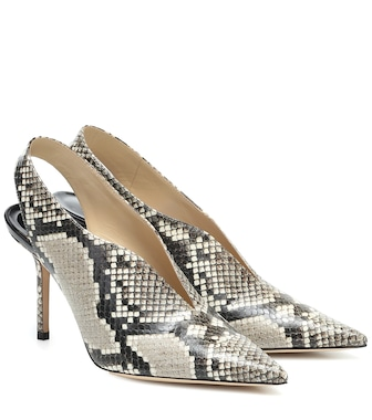 Jimmy Choo - Saise 85 snake-effect leather pumps - mytheresa.com