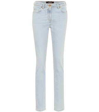 Versace - High-rise slim-fit jeans - mytheresa.com