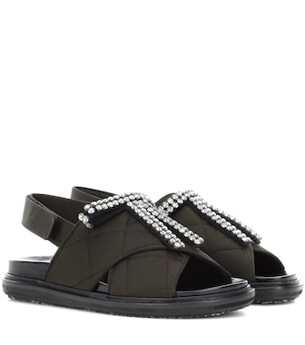 Marni - Crystal-embellished sandals - mytheresa.com