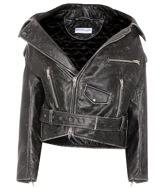 Balenciaga - Vintage Swing leather biker jacket - mytheresa.com