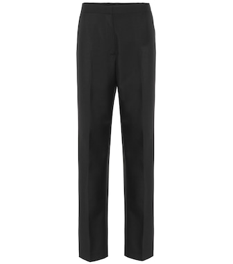 Jil Sander - High-rise wool and mohair pants - mytheresa.com