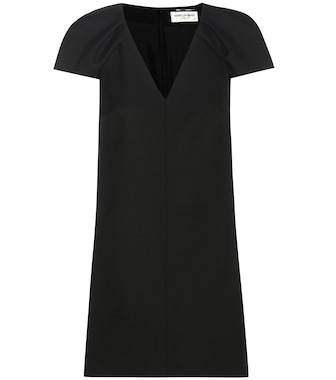 Saint Laurent - Wool crêpe dress - mytheresa.com