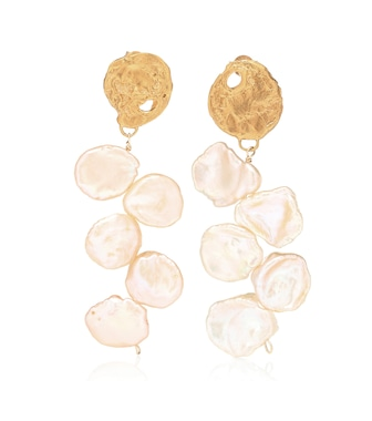 Alighieri - La Jetée 24kt gold-plated earrings with cornflake pearls - mytheresa.com