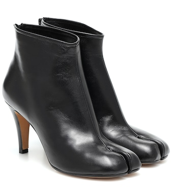 Maison Margiela - Tabi leather ankle boots - mytheresa.com
