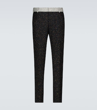Alexander McQueen - Donegal tweed wool-blend pants - mytheresa.com