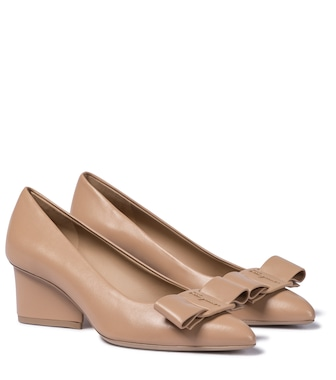 Salvatore Ferragamo - Viva 55 leather pumps - mytheresa.com