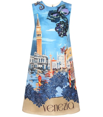 Dolce & Gabbana - Embellished silk shift dress - mytheresa.com
