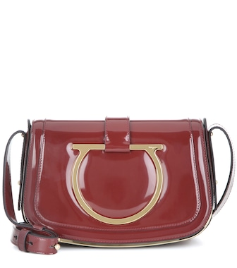 Salvatore Ferragamo - Sabine patent leather shoulder bag - mytheresa.com