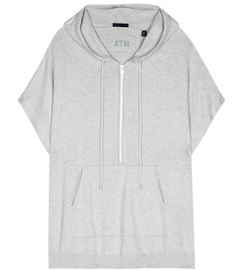 ATM Anthony Thomas Melillo - Cotton and cashmere-blend hoodie - mytheresa.com