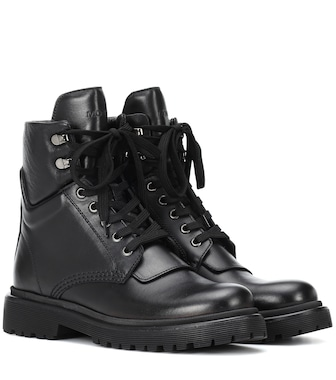 Moncler - Patty leather ankle boots - mytheresa.com