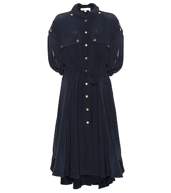 Chloé - Silk shirt dress - mytheresa.com