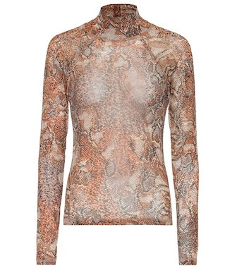 Nanushka - Madi snake-printed turtleneck top - mytheresa.com