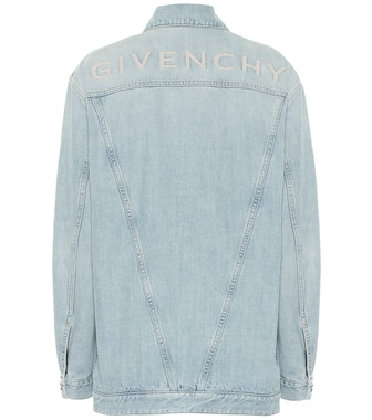 Givenchy - Logo-embroidered denim jacket - mytheresa.com