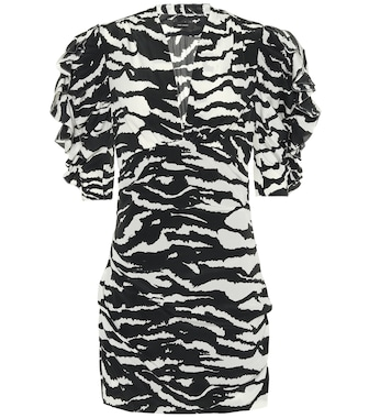 Isabel Marant - Farah animal-print minidress - mytheresa.com