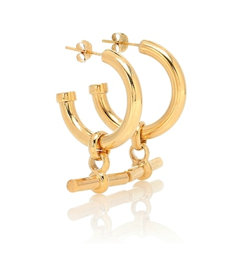Tilly Sveaas - Gold-plated hoop earrings - mytheresa.com