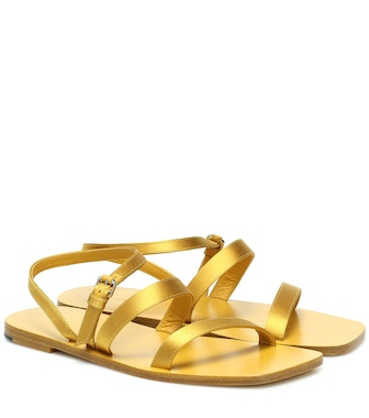 The Row - Exclusive to Mytheresa – Flat Wedge satin sandals - mytheresa.com