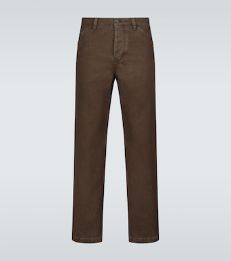 Acne Studios - Aleq straight-fit cotton pants - mytheresa.com