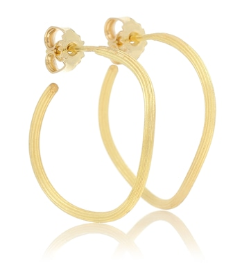 Elhanati - Exclusive to Mytheresa – String 18kt gold hoop earrings - mytheresa.com