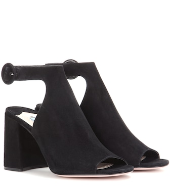 Prada - Cut-out suede ankle boots - mytheresa.com