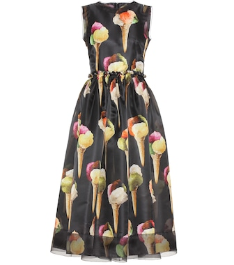 Dolce & Gabbana - Printed silk dress - mytheresa.com