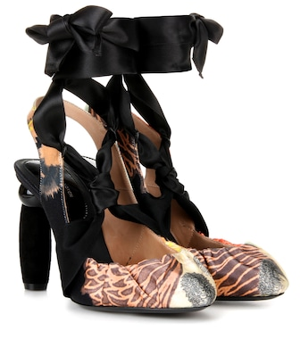Dries Van Noten - Printed sling-back pumps - mytheresa.com