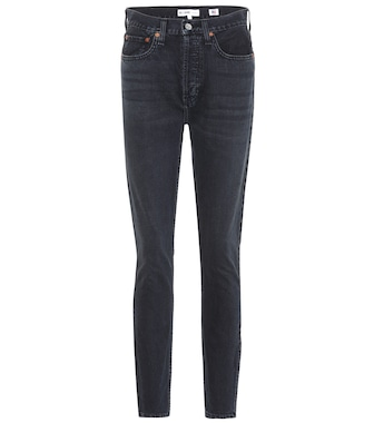 Re/Done - High Rise Ankle Zip skinny jeans - mytheresa.com