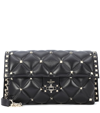Valentino - Valentino Garavani Candystud leather shoulder bag - mytheresa.com