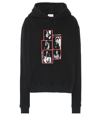Saint Laurent - Printed cotton hoodie - mytheresa.com