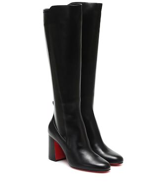 Christian Louboutin - Kronobotte knee-high leather boots - mytheresa.com