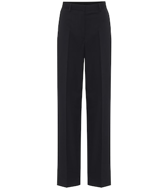 Dries Van Noten - High-rise cotton and wool pants - mytheresa.com