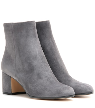 Gianvito Rossi - Margaux Mid suede ankle boots - mytheresa.com